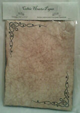 Celtic Hearts Themed Antiqued Paper - 10 Sheets