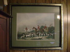 The Old Berkshire Hunt by artist John Goode in vintage frame