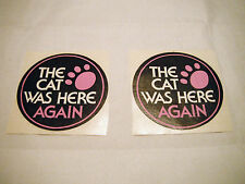 """Vintage NOS Arctic Cat """"The Cat Was Here Again"""" Decals (2)"""