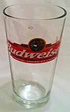 BUDWEISER Beer Glass Classic American Lager Pint Tumbler