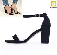 Sandal For Women Ankle Strap Heels Open Toe Chunky Summer Shoes Party Sandals