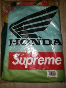 New Supreme × Honda Racing Moto Jersey size LARGE DEADSTOCK