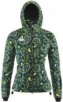 Kappa Ladies Womens Girls Ski Jacket Waterproof Windproof Green XS Small Medium