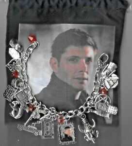 DEAN WINCHESTER Supernatural  Inspired Charm Bracelet Altered Art  BAG