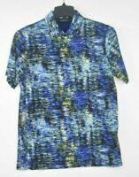 NEW Bugatchi Men's Polo Turquoise Size Small Colorful Mercerized Cotton $129