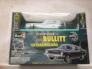 """'68 FORD MUSTANG STEEL BODY STEVE McQUEEN """"BULLITT""""2000 MODEL KIT- 1/25 GREEN"""