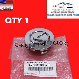 "NEW GENUINE OEM LEXUS 04-06 LS430 CHROME 18"" WHEEL CENTER HUB CAP 42603-30370"