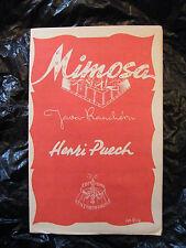 Partition Mimosa Henri Puech Ranchéra Mia José Lucchesi