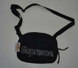 New with tag FW18 Supreme black shoulder bag Water and Abrasion resistant