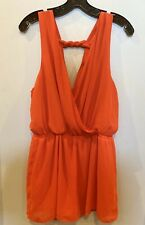 One Clothing Orange V Neck Romper Size L