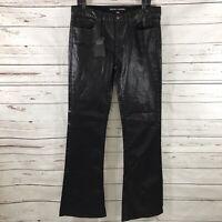 Ralph Lauren Black Label Women's Bootcut Jeans Black Waxed Bohemian Size 31 NWT