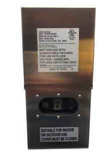 300Watt Low Voltage Outdoor-Landscape-Lighting-Transformer Stainless steel