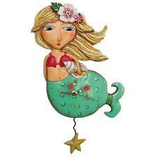 Allen Designs Shelley Mermaid Pendulum Childs Kids Whimsical Wall Clock