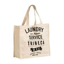 Blanchisserie shopping sac en toile coton matériau réutilisable