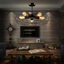 Industrial Vintage Metal Fan 5 Lights Pendant Lamp Steampunk Ceiling Chandelier