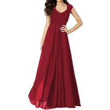 Women Chiffon Formal Evening Party Prom Lace Maxi Ballgown Bridesmaid Long Dress