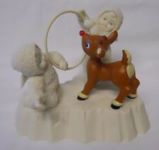 2000 Department 56 Snowbabies Rudolph Figurine-Rudolph Gets Ready