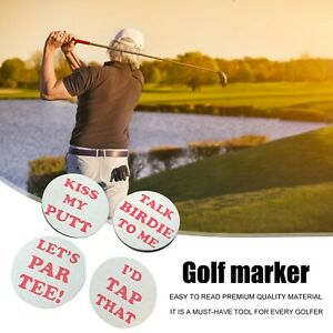 Portable 4-Piece Portable Golf Tag Tray With Fun Humorous Spoof Small Size CH