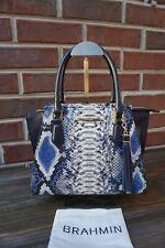 Brahmin Mini Priscilla Cobalt Ballington Leather Satchel/Xbody-NWT $325