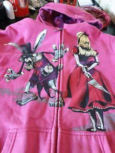 Iron Fist Alice Wants Revenge Pink Hoodie Medium