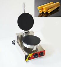 Nonstick Single Smooth Heating Surface Ice Cream Waffle Machine 110V