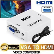 VGA to HDMI 1080P Full HD Video Audio Converter Adapter for Laptop PC DVD GL