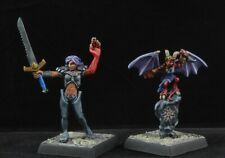 Painted Nualia and Erylium from Reaper Miniatures D&D pathfinder character