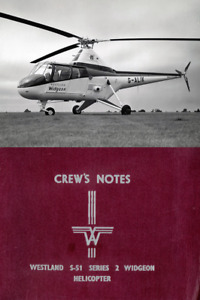 Westland S-51 Widgeon Helicopter Manual 1960's technical detail HISTORIC RARE