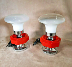 Coppia Lampade Space Age anni 70  Vintage Pair Table lamp