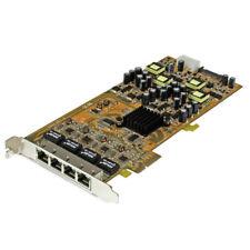 Startech.com - tarjeta PCI Express de red Ethernet Gigabit con 4 puertos RJ45 Po