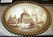 BRASS FRAMED PICTURE OF TEMPLE OF MUSIC FROM THE 1901 PAN-AMERICAN EXPOSITION