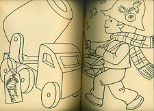 "JOLLY SANTA COLORING BOOK (1961) Samuel Lowe ""FUZZY COVERS"""
