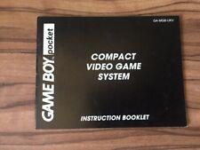 Compact Video Game System Nintendo Gameboy Pocket Instruction Manual Booklet #2
