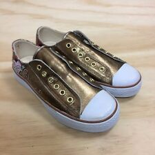 84c0ad4a6c4 NWOB Steve Madden Bronze Metallic Leather Slip On Low Sneakers Women s Size  6