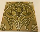 Vintage Arts   Crafts Floral Motif Ceramic Art Tile  Art Pottery 6x6