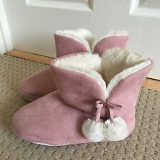 LADIES PINK SLIPPER BOOTS FROM GEORGE AT ASDA SIZE SMALL UK 3-4 GREAT CONDITION