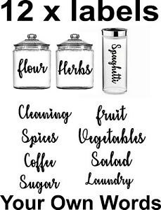 12x Mrs Hinch Inspired Storage Box Labels/Stickers Kitchen,Bathroom,Pantry,Home