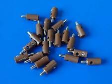 BRAWA / MARKLIN  H0 - 20x MALE PLUGS / BROWN