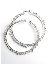 CC Skye Starburst Hoops Silver Plated