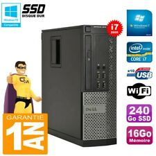 PC Dell Optiplex 9010 SFF Core I7-2600 16Go Disque 240Go SSD Graveur DVD Wifi W7
