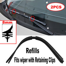Pair Windscreen Wiper Blade Refills Rubber Refill Front Window Car Auto A Grade