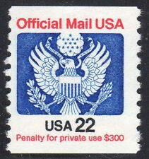 Sc# O-136 22 Cent Official (1983) MNH Coil Single SCV $1.00  Read