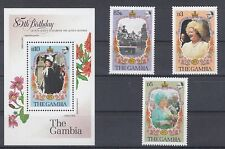 Gambia 562 - 64+ Block 14 Birthday Queen (MNH)
