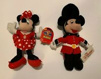 """MICKEY AND MINNIE MOUSE STUFFED 10"""" DOLLS- VINTAGE- NEW WITH TAGS- SMOKE FREE"""