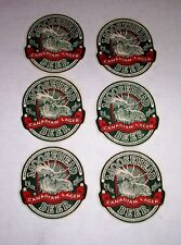 """MOOSEHEAD CANADIAN LAGER BEER MATS COASTERS LOT OF 6 CANADA BREWERY 4"""" TALL"""