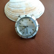 Vintage Orvin Divers Day-Date Watch w/Mint Dial & Bezel,Warm Patina FOR REPAIR