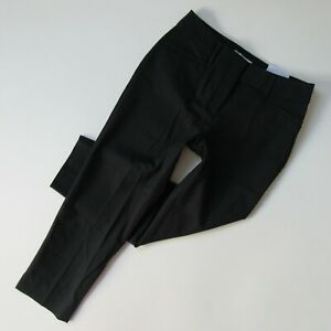 NWT Ann Taylor LOFT Julie Curvy Riviera in Black Bi-stretch Cotton Crop Pants 0