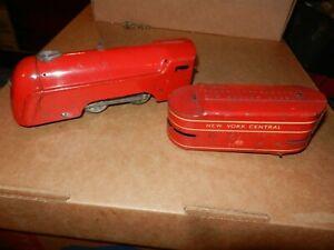 MARX Mercury Locomotive & Tender, Red,  Wind Up,  Original
