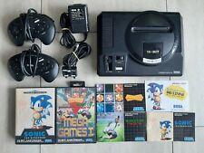Sega Mega Drive mit 2 Controllern und 2 Spielen