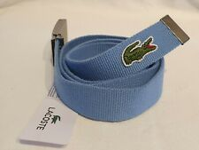 BNWT Mens Lacoste Blue Webbed Belt